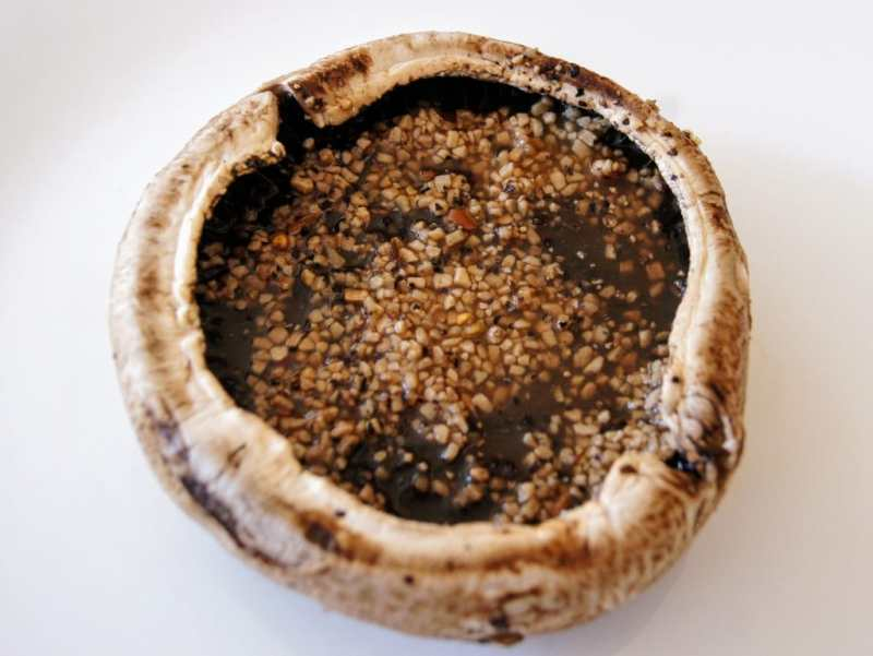 marinating grilled portobello mushroom