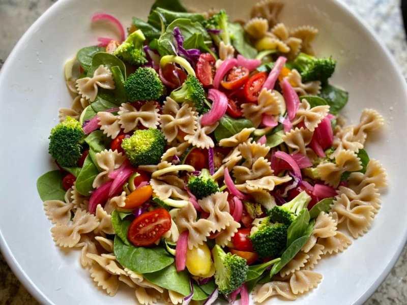 Spinach Pasta Salad Recipe