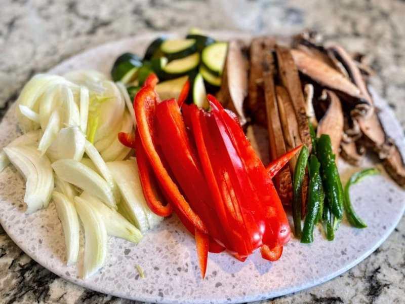 Vegan faijitas vegetables