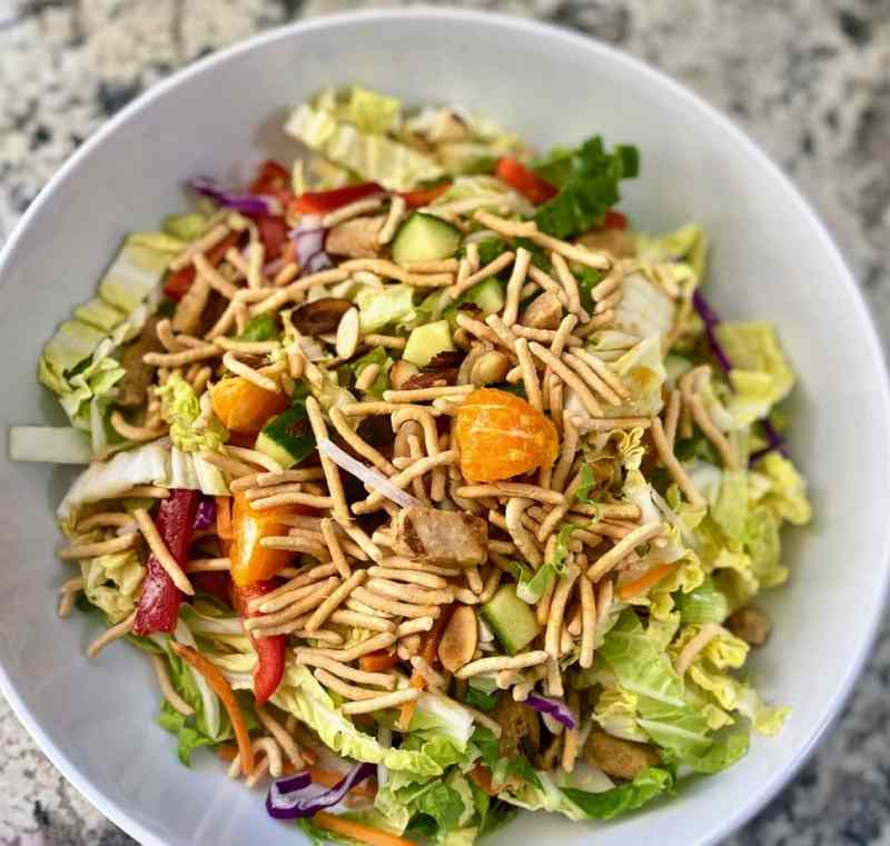 Chinese chicken salad topping options