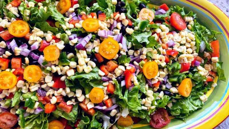 Southwest salad served