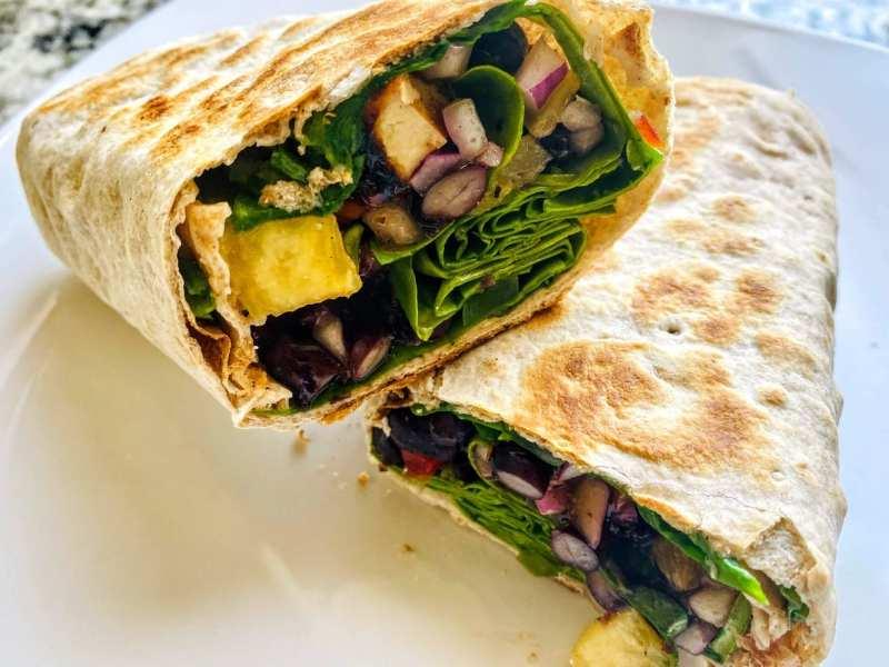 jerk tofu wrap sandwich