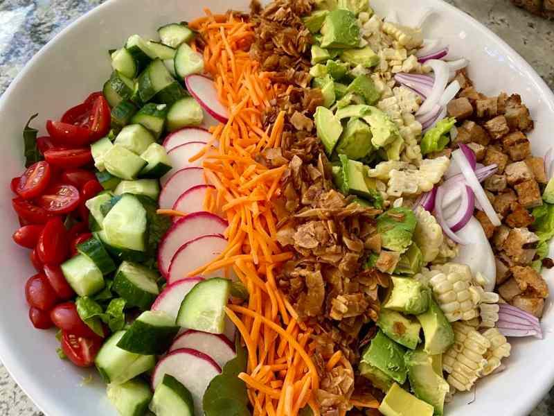Vegan Cobb Salad Close up