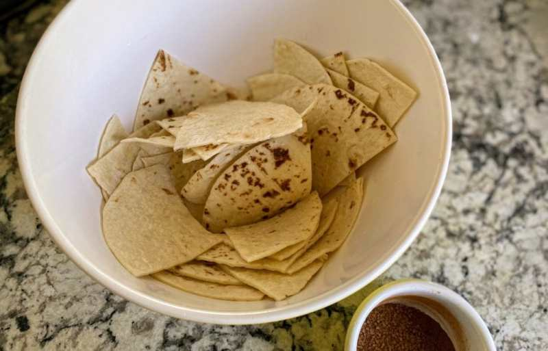 tortillas soaked in lime juice