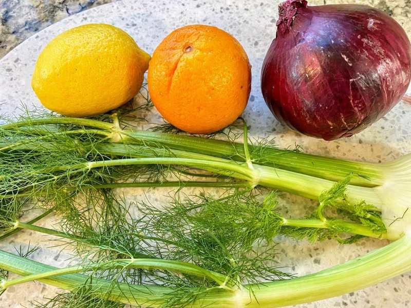 Fennel salad with oranges ingredients