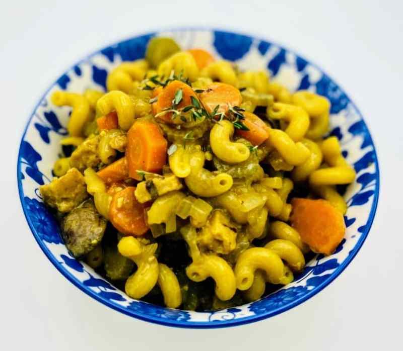 chicken pot pie noodles veggies