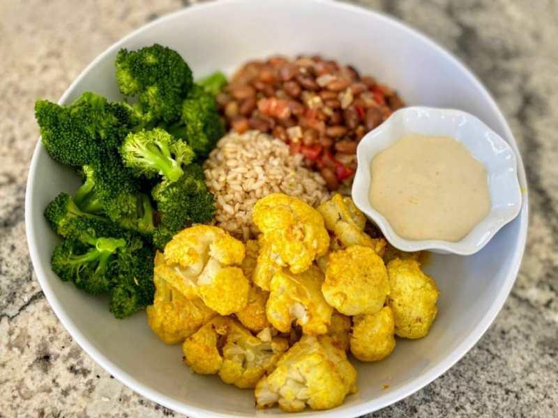 Tandoori Cauliflower Served