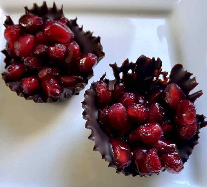 pomegrante chocolates