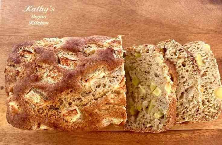 Sliced apple cinnamon bread