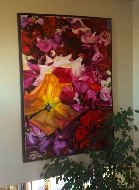 ron harris art red roses yellow roses fine art floral art in oil