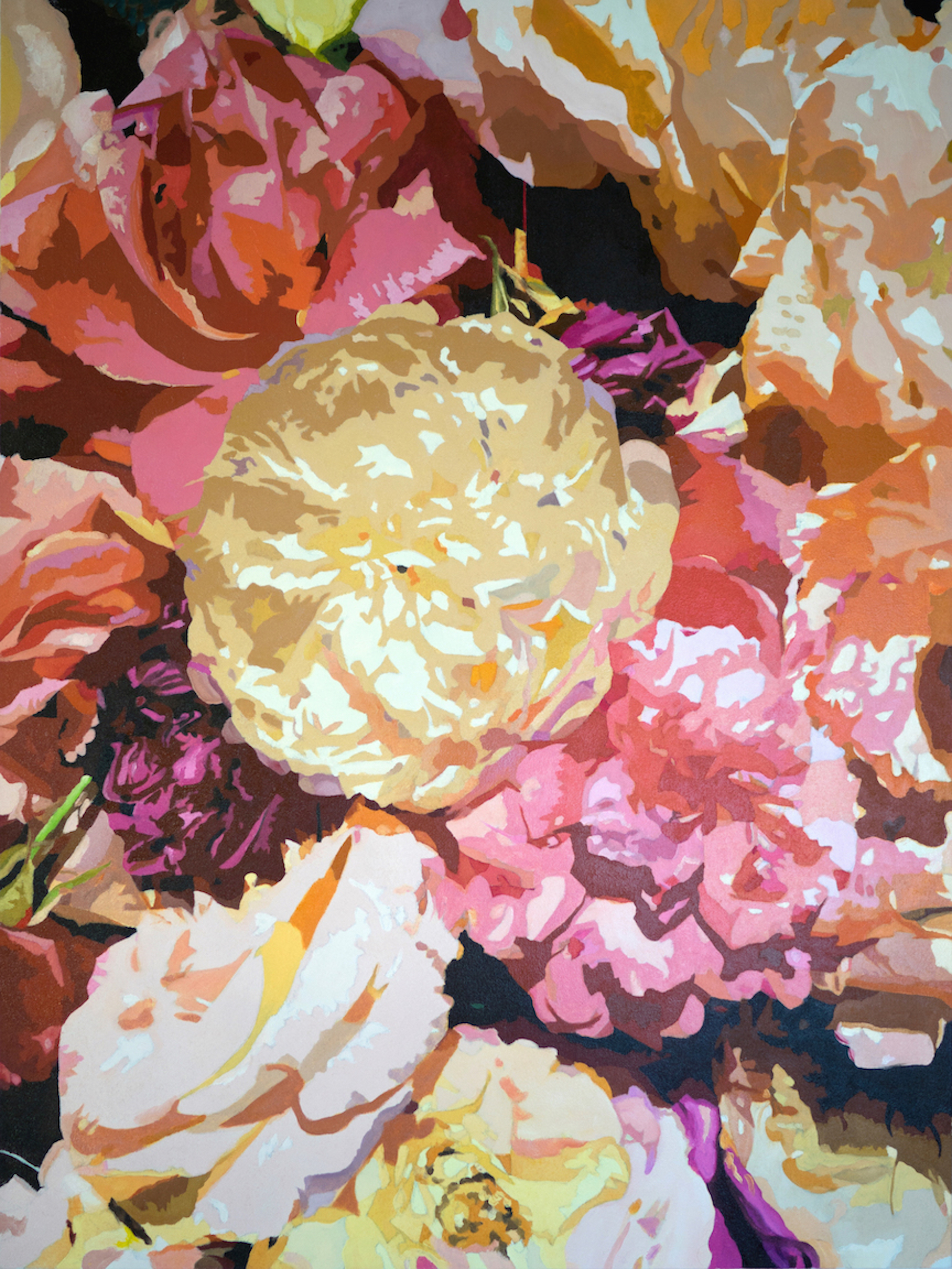 """Shades of Roses"" Original Oil 48"" x 36"" - Kathy Trageser ..."