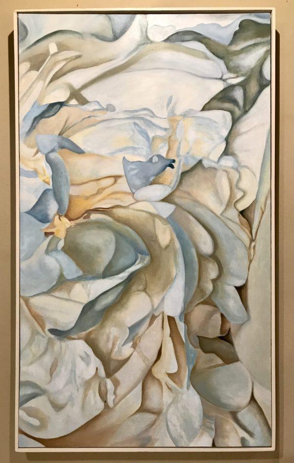 Peonies #15, frame,blue, grey