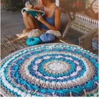 Craft Lovers ♥ Gehäkelter Mandala Teppich aus Washi von Susimiu