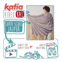 Ferien VideoKAL: Stricken Sie einen sensationellen Superschal aus 7 Knäulen Katia Jaipur