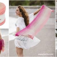 Gehäkelter Pareo-Schal: ein vielseitiges Accessoire aus nur einem Knäuel Katia Spring Rainbow