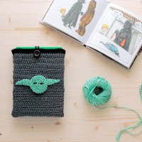 May the yarn be with you! 2 patterns from another galaxy: lightsaber bookmarks and Darth Vader and Yoda book covers...which side of the Force are you on?