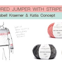 Premium Designers: Hook up with Isabell Kraemer and her textured jumper with stripes for Katia Concept