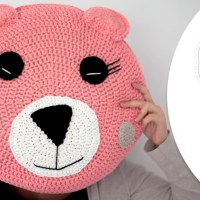 Craft Lovers ♥ Bear Cushion made with Katia Big Alabama by Follow the Crochet