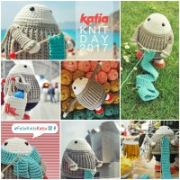 #FelixKnitsKatia Competition: photograph Felix the happy knitter in your favourite place and win a Katia selection super giveaway