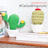 2 very easy Amigurumi Cacti. Make these amusing crochet bookends to decorate your home!
