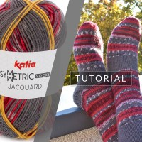 How to knit a pair of identical socks with one ball of Katia Jacquard Symmetric Socks