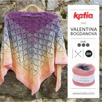 Lace Knit shawl by Valentinasknits: Knit this diamond and flower design with only one ball of Silk Degradé