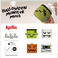 4 Crochet mug covers: Make a toast with Dracula, Pumpkin, the Mummy and Frankenstein this Halloween
