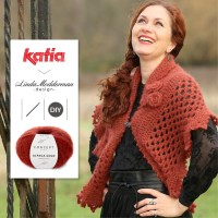 Winter Rose Wrap by Linda Modderman: Crochet this romantic picot edge shawl with Alpaca Gold
