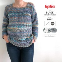 Eurybia crochet sweater by Blage Crochet Design, a great project for beginners who want to move up!