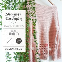 Ready for a challenge? Crochet a summer cardigan designed by @wolgelukjes with Katia Ultrasoft