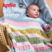 Les Petites Choses KAL: Let's knit this sweet baby blanket together in our Knit-Along Katia group!