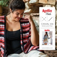 12 plus size patterns you can knit and crochet with the new Katia Casual 106 magazine this spring
