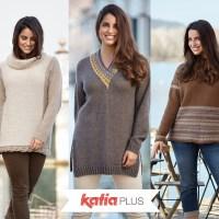 """Katia Plus: patrones de punto para """"tallas grandes"""" de la 46 a la 56"""