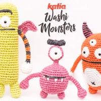 3 monstruos amigurumi para hacer con Katia Washi en Halloween. ¡Vamos de pícnic con la Familia Monstruosa!