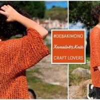 Cómo tejer un kimono en una sola pieza con Ana Martin, ganadora de Katia Designers Awards 2