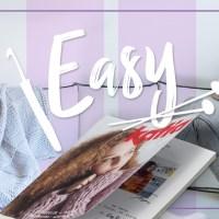 39 patrones de ganchillo y punto fáciles, rápidos y juveniles para aprender a tejer con Easy Knits