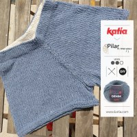 Pantalones cortos de punto por Tejiendo la isla: un refrescante patrón para tejer en verano con Love Denim
