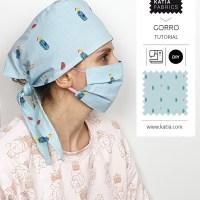 Aprende a coser un gorro sanitario de tela