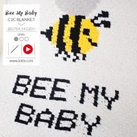 Aprende Crochet C2C: Sigue el videotutorial para hacer la manta de bebé Bee My Baby con Katia Alabama