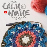 Únete al reto crochetero de Ahuyama Crochet y aprende a hacer relajantes mandalas cuadrados a ganchillo
