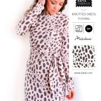 Patrón de costura gratuito y videotutorial para coser un cómodo vestido anudado