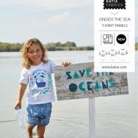 Cet été cousez un t-shirt avec nos pièces prêtes à coudre et notre patron gratuit à télécharger de la taille 2 à 12 ans.