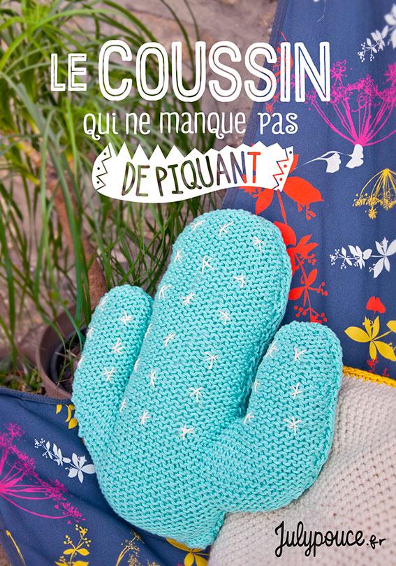 Craft Lovers ♥ Le coussin cactus qui ne manque pas de piquant par Julypouce