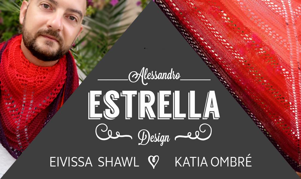 Craft Lovers ♥ Châle Eivissa tricoté en Katia Ombré par Alessandro Estrella