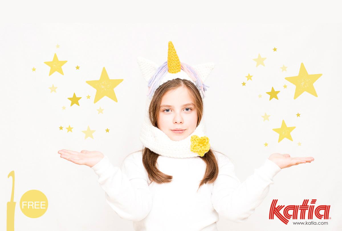 Patron au crochet Bonnet Licorne, un déguisement de Carnaval magique, drôle et facile