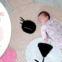 Craft Lovers ♥ Tapis Ours crocheté en Katia Big Ribbon par Follow the Crochet