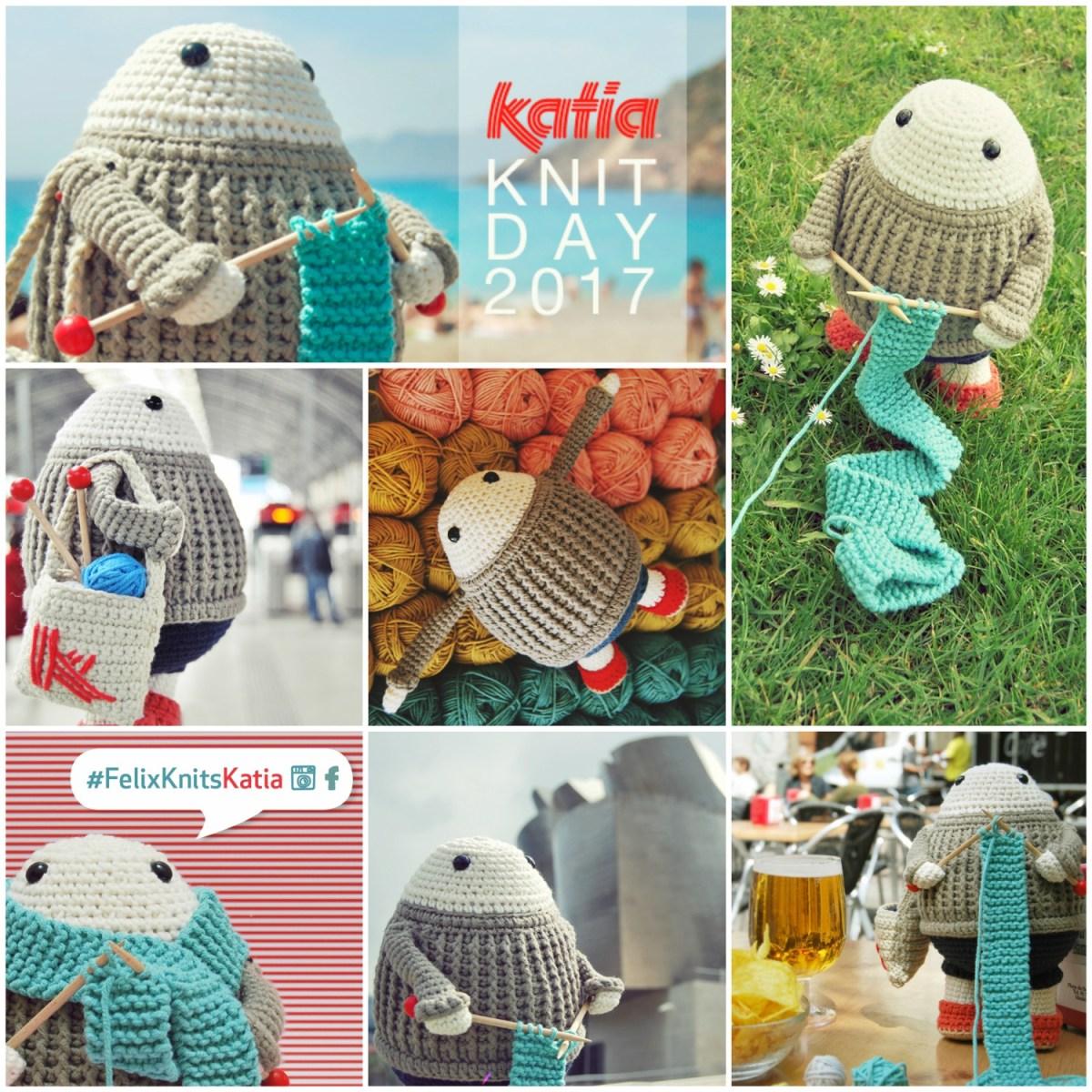 Concours #FelixKnitsKatia: prenez Félix le tricoteur heureux en photo dans votre endroit préféré et gagnez un superlot Katia
