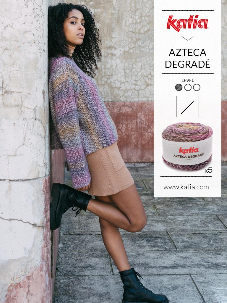 pulls faciles au tricot et crochet azteca degrade