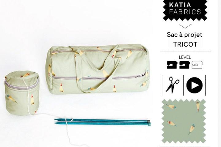 SAL couture sac à projet tricot