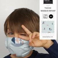 Apprenez à coudre un masque avec un filtre pour enfant 😷